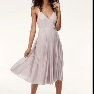Aritzia Beaune pleated dress